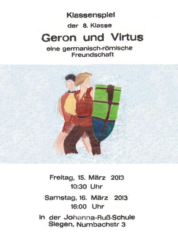 Plakat aus der Schülerdruckerei