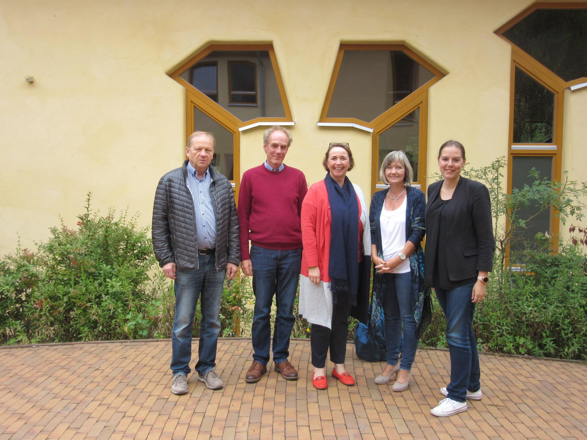 V.l.n.r.: Klaus Volker Walter, Martin Cuno, Angela Freimuth, Silvia Perthen, Franziska Müller-Rech